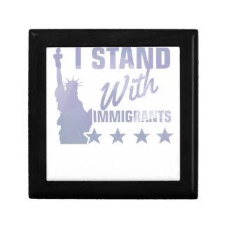 Pro immigration statue of liberty shirt gift box