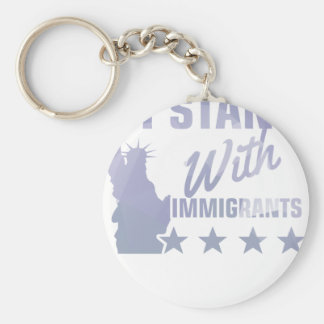 Pro immigration statue of liberty shirt key ring