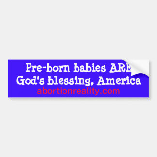 pro-life blessing bumper sticker