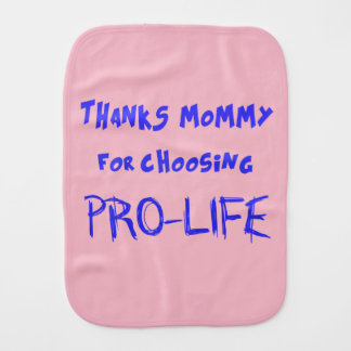 Pro-life Burp Cloth