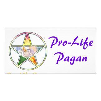 Pro-life elements customised photo card
