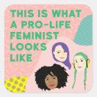 Pro-life Feminist Squad Stickers
