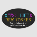 Pro-Life New Yorker Oval Stickers