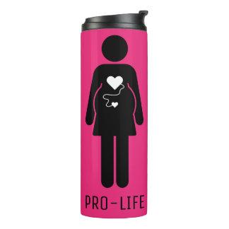 Pro Life Pregnant Woman Icon Thermal Tumbler