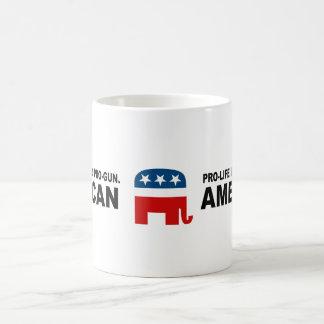 Pro-life. Pro-God. Pro-Gun American Mug