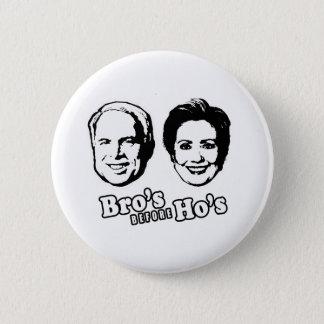 PRO-MCCAIN: BRO'S BEFORE HO'S 6 CM ROUND BADGE