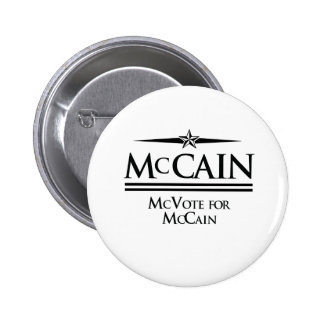 PRO-MCCAIN: MCVOTE FOR MCCAIN PINBACK BUTTONS