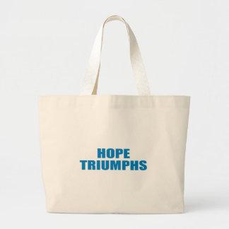 Pro-Obama - HOPE TRIUMPHS Canvas Bags