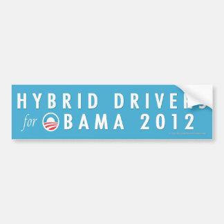 Pro-Obama Hydrid Drivers 2012 Bumper Sticker