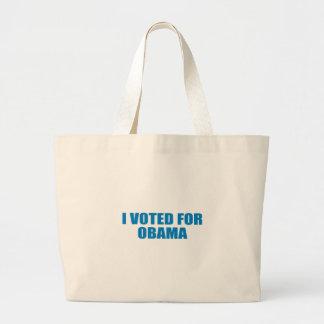 Pro-Obama - I VOTED FOR OBAMA Tote Bags