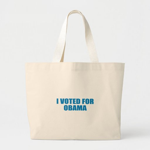 Pro-Obama - I VOTED FOR OBAMA Tote Bags