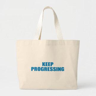 Pro-Obama - KEEP PROGRESSING Tote Bag