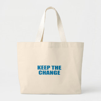Pro-Obama - KEEP THE CHANGE Canvas Bags