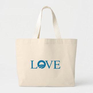 Pro-Obama - LOVE -- Canvas Bags