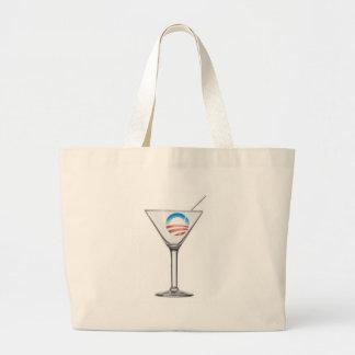 Pro-Obama Martini Canvas Bag