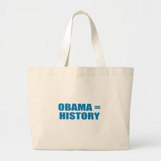 Pro-Obama - OBAMA = HISTORY Canvas Bag