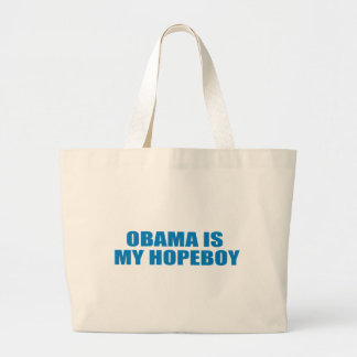 Pro-Obama - OBAMA IS MY HOPEBOY Tote Bag