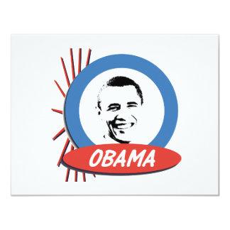 Pro-Obama Retro Gifts 11 Cm X 14 Cm Invitation Card
