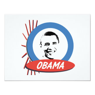 Pro-Obama Retro Gifts 4.25x5.5 Paper Invitation Card