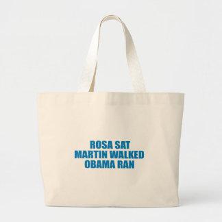 Pro-Obama - ROSA SAT MARTIN WALKED OBAMA RAN Canvas Bags