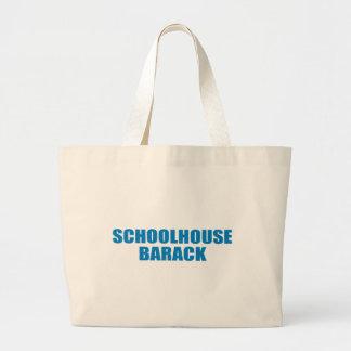 Pro-Obama - SCHOOLHOUSE BARACK Tote Bag