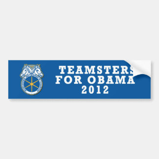Pro-Obama sticker Teamsters 2012