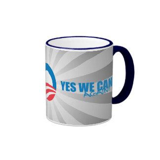 Pro-Obama - YES WE CAN AGAIN Ringer Mug