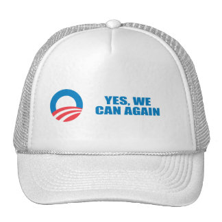 Pro-Obama - YES WE CAN AGAIN Trucker Hats
