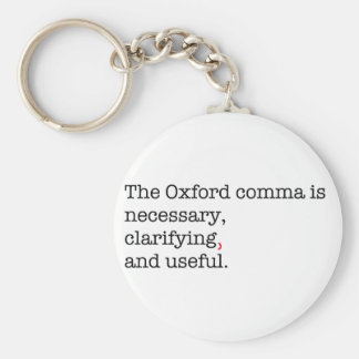 Pro-Oxford Comma Basic Round Button Key Ring