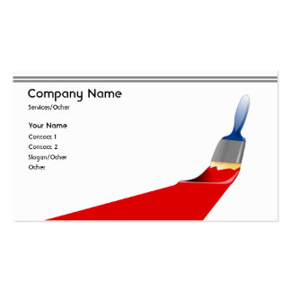 Pro Painter Double-Sided Standard Business Cards (Pack Of 100)