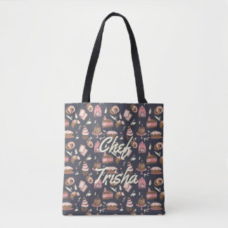 Pro Pastry Chef Iconic Dark Blue•Custom Tote Bag