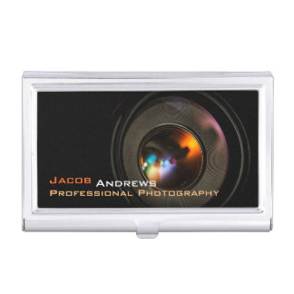 Pro Photography (Camera Lens) Case For Business Cards