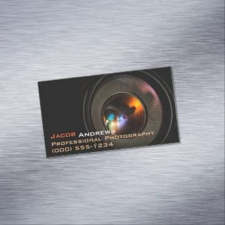 Pro Photography (Camera Lens) Magnetic Business Cards