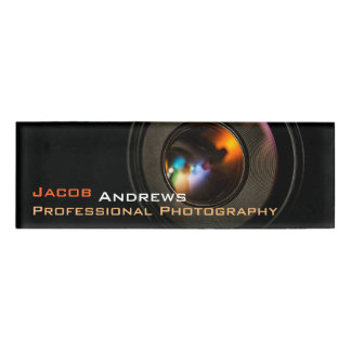 Pro Photography (Camera Lens) Name Tag