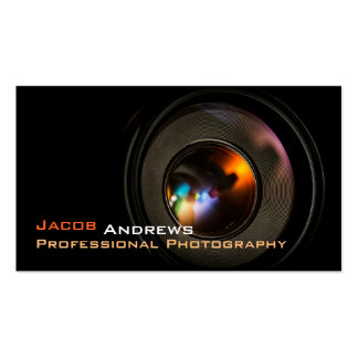 Pro Photography (Camera Lens) Pack Of Standard Business Cards