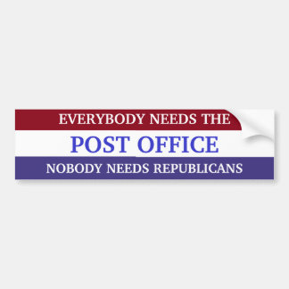 PRO POST OFFICE Bumper Sticker Car Bumper Sticker