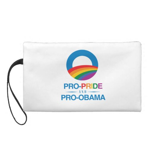 PRO-PRIDE AND PRO-OBAMA -.png Wristlet Purse