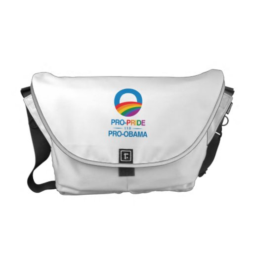 PRO-PRIDE AND PRO-OBAMA -.png Courier Bag