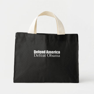 PRO-ROMNEY - DEFEND AMERICA DEFEAT OBAMA -- .png Tote Bags