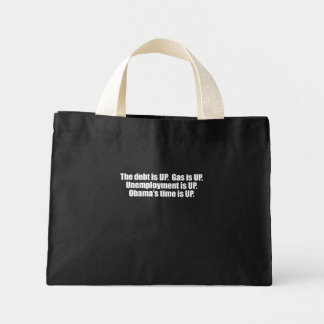 PRO-ROMNEY - OBAMA'S TIME IS UP -- .png Mini Tote Bag