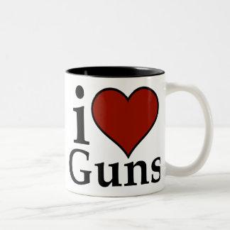 Pro Second Amendment: I Heart Guns Mug