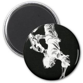 Pro skater 6 cm round magnet