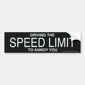 Pro-Speed Limit sticker