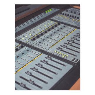 Pro Studio Music Studio Console Music Audio Studio Postcard
