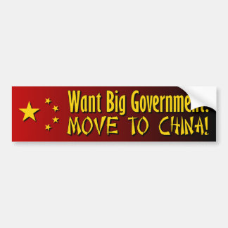 Pro Tea Party - Anti Big Government Bumper Sticker