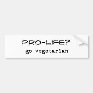pro veg bumper sticker