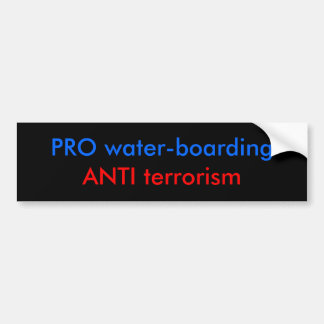 PRO water-boarding Bumper Sticker
