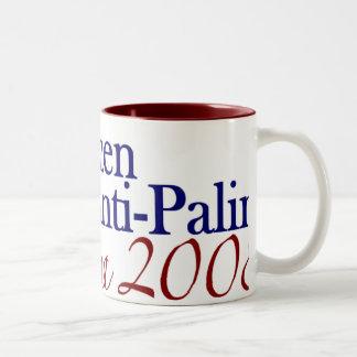 Pro Women Anti Palin (Obama 2008) Two-Tone Coffee Mug