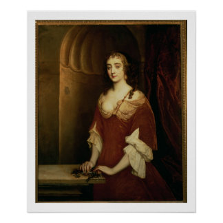 Probable portrait of Nell Gwynne (1650-87), mistre Poster