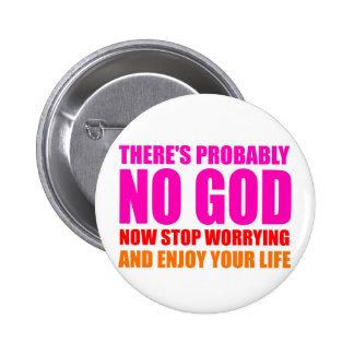 Probably No God 6 Cm Round Badge